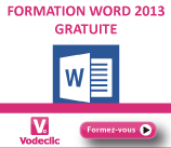 Vodeclic - formation Word 2013
